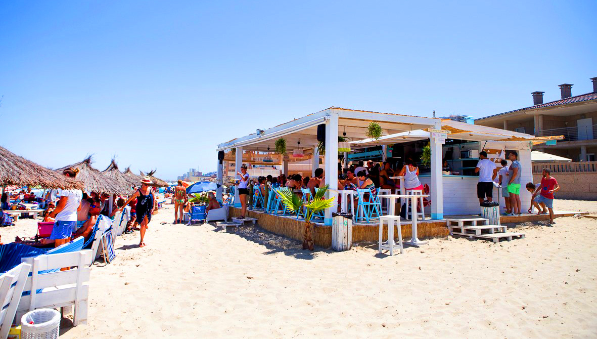 Chiringuito la cangreja la manga playa el galúa del mar menor mar mediterráneo
